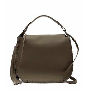All Saints Mink Grey Hobo Bag $348 MSRP Brand New
